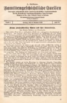 Familiengeschichtliche Quellen, 1926/1930, Bd. 1, H. 10. - 2. Aufl.