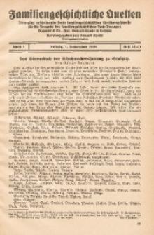 Familiengeschichtliche Quellen, 1926/1930, Bd. 1, H. 12a