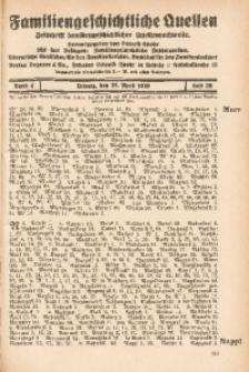 Familiengeschichtliche Quellen, 1928/1929, Bd. 4, H. 38 (Murr-Nord)