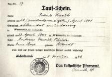 Akt chrztu z 22 kwietnia 1841 r.