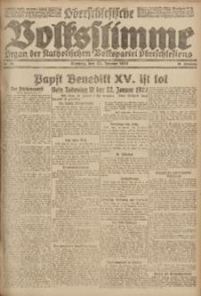 Oberschlesische Volksstimme, 1922, Jg. 48, Nr. 23