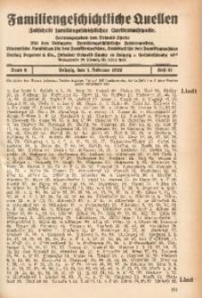 Familiengeschichtliche Quellen, 1931/1932, Bd. 6, H. 41 (Liedt-Lon)