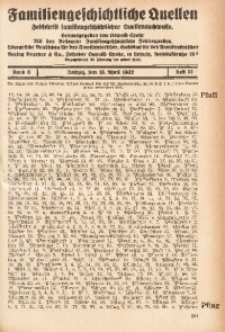 Familiengeschichtliche Quellen, 1931/1932, Bd. 6, H. 51 (Pfaff-Poetz)