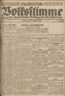 Oberschlesische Volksstimme, 1922, Jg. 48, Nr. 43