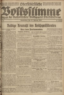 Oberschlesische Volksstimme, 1922, Jg. 48, Nr. 53