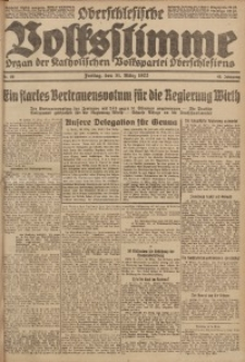 Oberschlesische Volksstimme, 1922, Jg. 48, Nr. 88