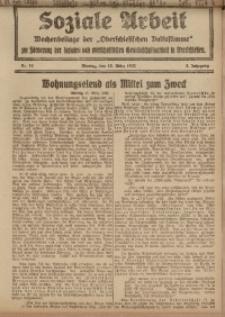 Soziale Arbeit, 1922, Jg. 3, nr 11