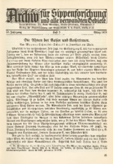 Archiv für Sippenforschung und alle verwandten Gebiete, 1933, Jg. 10, H. 3