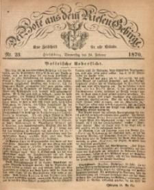 Der Bote aus dem Riesen-Gebirge, 1870, Jg. 58, Nr. 23