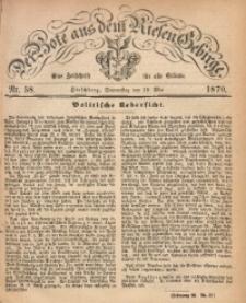 Der Bote aus dem Riesen-Gebirge, 1870, Jg. 58, Nr. 58