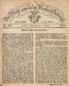 Der Bote aus dem Riesen-Gebirge, 1870, Jg. 58, Nr. 140