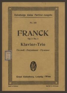 Trio fis moll : für Pianoforte, Violine und Violoncell : Op. 1 No. 1