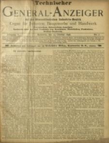 Technischer General-Anzeiger für den Oberschlesischen Industrie-Bezirk, 1898/1899, Jg. 5, No. 2