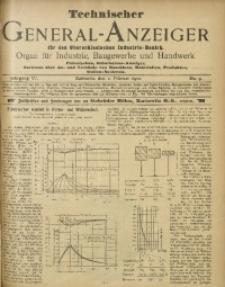 Technischer General-Anzeiger für den Oberschlesischen Industrie-Bezirk, 1899/1900, Jg. 6, No. 9