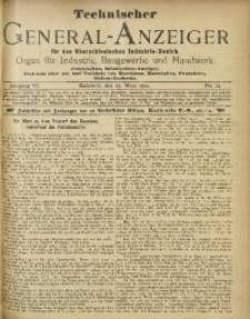 Technischer General-Anzeiger für den Oberschlesischen Industrie-Bezirk, 1899/1900, Jg. 6, No. 12