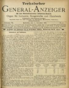 Technischer General-Anzeiger für den Oberschlesischen Industrie-Bezirk, 1900/1901, Jg. 7, No. 4