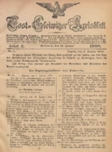 Tost-Gleiwitzer Kreisblatt, 1908, Jg. 66, St. 2