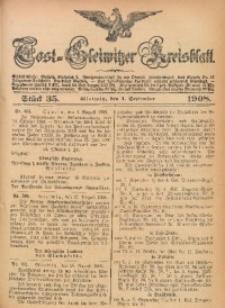 Tost-Gleiwitzer Kreisblatt, 1908, Jg. 66, St. 35