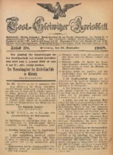 Tost-Gleiwitzer Kreisblatt, 1908, Jg. 66, St. 38