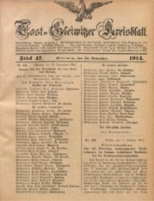Tost-Gleiwitzer Kreisblatt, 1914, Jg. 72, St. 47