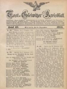 Tost-Gleiwitzer Kreisblatt, 1914, Jg. 72, St. 49