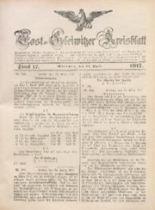Tost-Gleiwitzer Kreisblatt, 1917, Jg. 75, St. 17