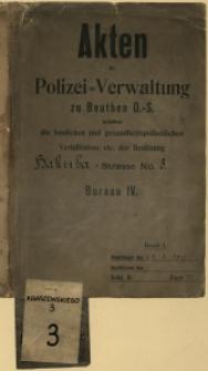 Dokumentacja budowlana archiwum miejskiego w Bytomiu, Kraszewskiego 3