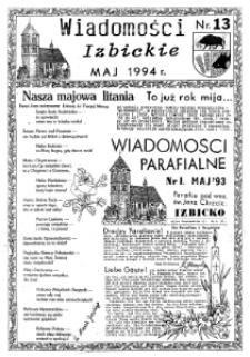 Wiadomości Izbickie 1994, nr 13.