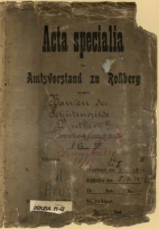 Dokumentacja budowlana archiwum miejskiego w Bytomiu, Prusa 11, 12