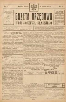 Gazeta Urzędowa Województwa Śląskiego, 1925, R. 4, nr 3