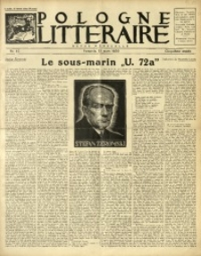 Pologne Littéraire, 1930, A. 5, Nr. 42