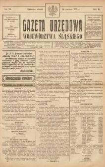 Gazeta Urzędowa Województwa Śląskiego, 1925, R. 4, nr 22