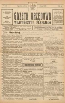 Gazeta Urzędowa Województwa Śląskiego, 1925, R. 4, nr 24