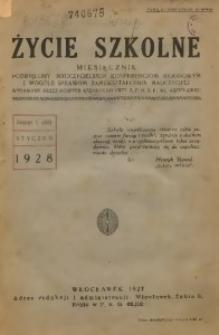 Życie Szkone, 1928, R. 6, Nr. 1