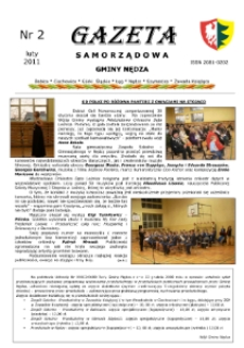 Gazeta Samorządowa Gminy Nędza 2011, nr 2.