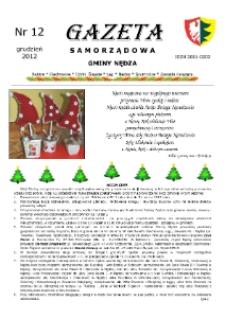 Gazeta Samorządowa Gminy Nędza 2012, nr 12.