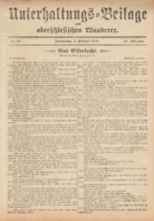 Unterhaltungs-Beilage zum Oberschlesischen Wanderer, 1909, Jg. 82, Nr. 27