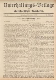 Unterhaltungs-Beilage zum Oberschlesischen Wanderer, 1909, Jg. 82, Nr. 35