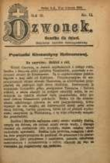 Dzwonek, 1909, R. 16, nr 12
