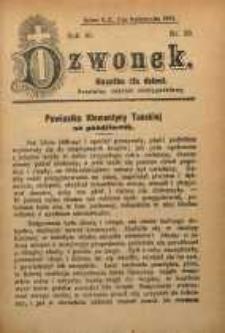 Dzwonek, 1909, R. 16, nr 20