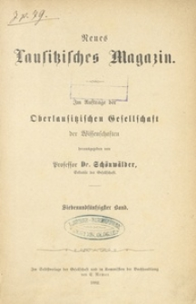 Neues Lausitzisches Magazin, Bd. 57 (1882)