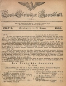 Tost-Gleiwitzer Kreisblatt, 1868, Jg. 26, St. 2
