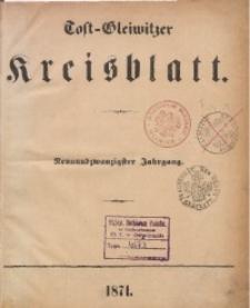 Tost-Gleiwitzer Kreisblatt, 1871, Jg. 29, St. 1