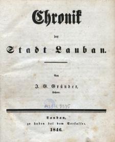 Chronik der Stadt Lauban
