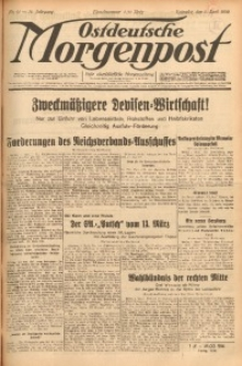Ostdeutsche Morgenpost, 1932, Jg. 14, Nr. 91