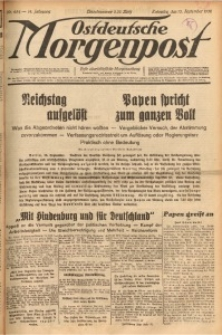 Ostdeutsche Morgenpost, 1932, Jg. 14, Nr. 254