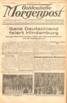 Ostdeutsche Morgenpost, 1932, Jg. 14, Nr. 274
