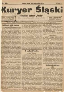 Kuryer Śląski, 1907, R. 1, nr 26