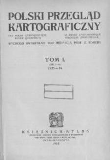 Polski Przegląd Kartograficzny, Spis rzeczy tomu I (nr 1-8). 1923-24