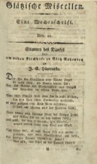Glätzische Miscellen, 1812, Bd. 1, Nro. 20
